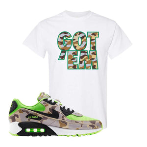 Air Max 90 Duck Camo Ghost Green T Shirt | White, Got Em