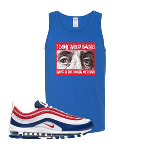 Air Max 97 USA Tank Top | Royal Blue, Franklin Eyes
