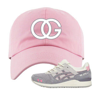 END x Asics Gel-Lyte III Grey And Pink Dad Hat | OG, Pink