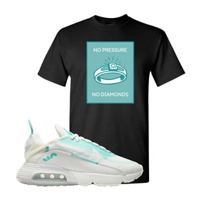 Air Max 2090 Pristine Green T Shirt | Black, No Pressure No Diamond