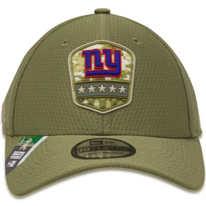 New York Giants 2019 Salute To Service On Field 39Thirty Stretch Fit Hat