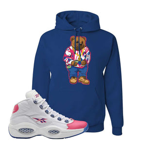 Question Mid Pink Toe Hoodie | Sweater Bear, Royal
