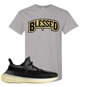 Yeezy Boost 350 v2 Carbon T Shirt | Blessed Arch, Gravel