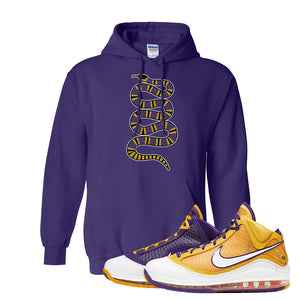 Lebron 7 'Media Day' Hoodie | Purple, Coiled Snake