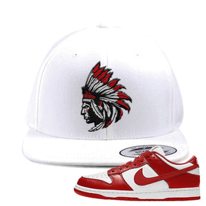 SB Dunk Low St. Johns Snapback Hat | Indian Chief, White