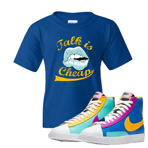 Blazer Mid Big Kids T Shirt | Royal, Talk is Cheap