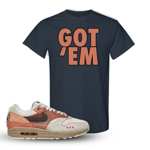 Air Max 1 Amsterdam City Pack Sneaker Dark Heather T Shirt | Tees to match Nike Air Max 1 Amsterdam City Pack Shoes | Got Em