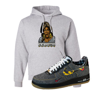 Air Force 1 Low Plaid And Camo Remix Pack Hoodie | Oh My Goodness, Ash