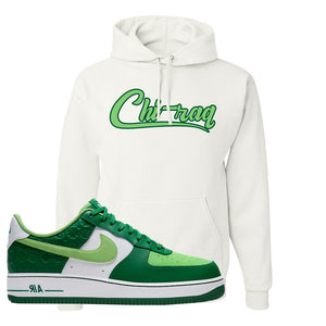 Air Force 1 Low St. Patrick's Day 2021 Hoodie | Chiraq, White