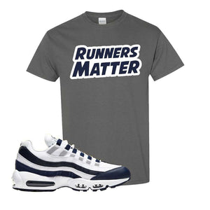 Air Max 95 Essential White / Midnight Navy T Shirt | Charcoal, Runners Matter