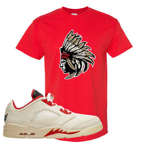 Air Jordan 5 Low Chinese New Year 2021 T Shirt | Indian Chief, Red