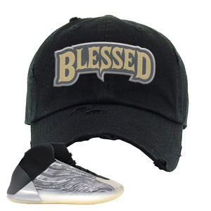Yeezy Quantum Distressed Dad Hat | Black, Blessed Arch