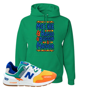 997S Multicolor Sneaker Kelly Pullover Hoodie | Hoodie to match New Balance 997S Multicolor Shoes | Mookie and Gang