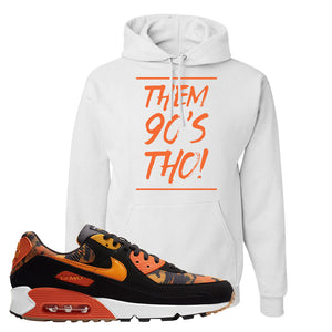 Air Max 90 Orange Camo Hoodie | Them 90's Tho, White