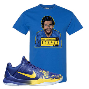 Kobe 5 Protro 5 Rings T Shirt | Escobar Illustration, Royal Blue
