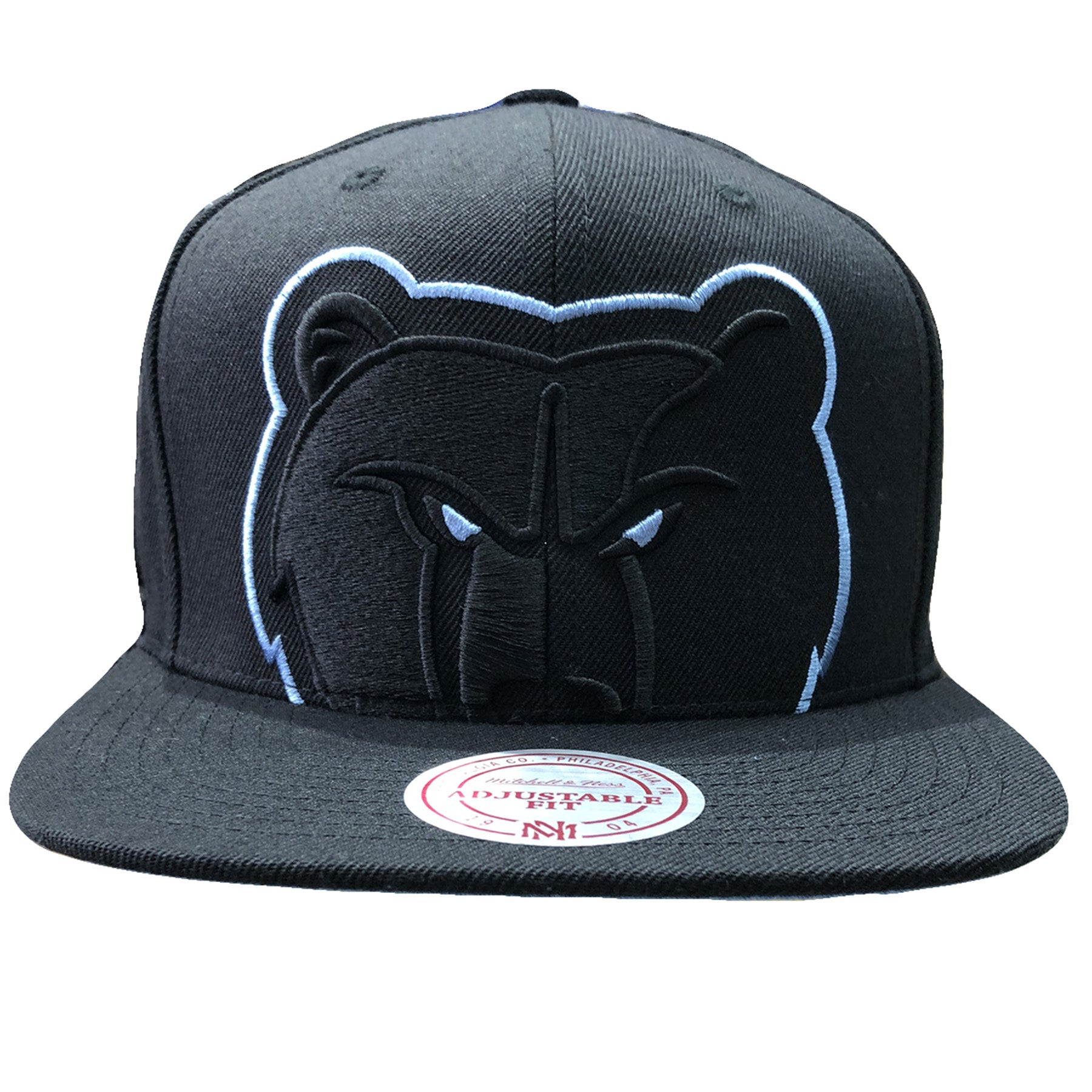 6a4a0d9b on the front of the Memphis Grizzlies snapback hat, the Grizzlies logo is  embroidered in