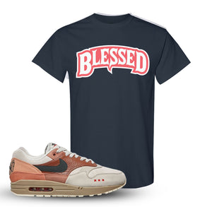 Air Max 1 Amsterdam City Pack Sneaker Dark Heather T Shirt | Tees to match  Nike Air Max 1 Amsterdam City Pack Shoes | Blessed Arch