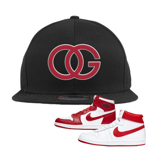 Jordan 1 New Beginnings Pack Sneaker Black Snapback Hat | Hat to match Nike Air Jordan 1 New Beginnings Pack Shoes | OG