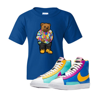 Blazer Mid Big Kids T Shirt | Royal, Sweater Bear