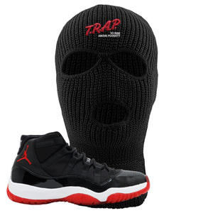 Jordan 11 Bred Trap To Rise Above Poverty Black Sneaker Hook Up Ski Mask