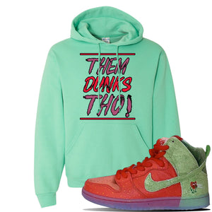 SB Dunk High 'Strawberry Cough' Hoodie | Cool Mint, Them Dunks Tho