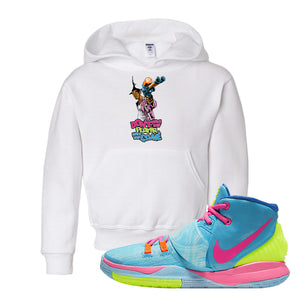 Kyrie 6 Pool Kids Pullover Hoodie | Dont Hate The Player, White