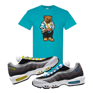 Air Max 95 QS Greedy T Shirt | Tropical Blue, Sweater Bear