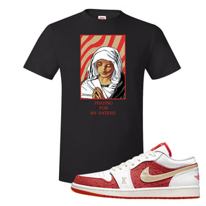 Air Jordan 1 Low Spades T Shirt | God Told Me, Black