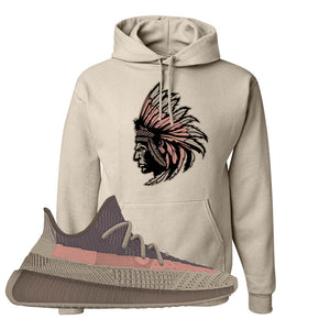 Yeezy 350 v2 Ash Stone Hoodie | Indian Chief, Sand