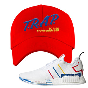 NMD R1 Olympic Pack Dad Hat | Red, Trap To Rise Above Poverty