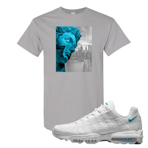 Air Max 95 Ultra White Glacier Blue T Shirt | Miguel, Gravel