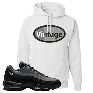 Air Max 95 Black Smoke Grey Hoodie | Vintage Oval, White