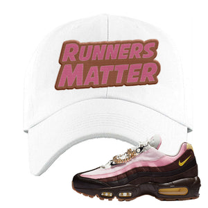 Air Max 95 Cuban Links Dad Hat | White, Runners Matter
