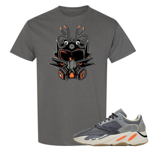 Yeezy Boost 700 Magnet Sneaker Mask Charcoal Sneaker Matching Tee Shirt