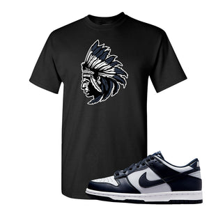 SB Dunk Low Georgetown T Shirt | Indian Chief, Black