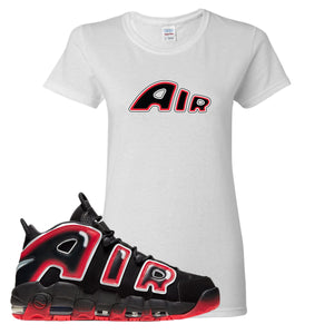 Air More Uptempo Laser Crimson Air From The Sneaker White Sneaker Hook Up Women's T-Shirt