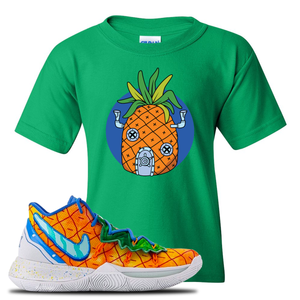 Kyrie 5 Pineapple House Pineapple House Irish Green Sneaker Hook Up Kid's T-Shirt