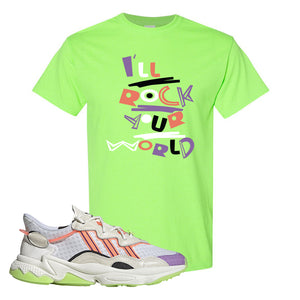 Ozweego Chaos T Shirt | Neon Green, I'll Rock Your World