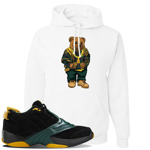 Answer 5 Bethel High Sneaker White Pullover Hoodie | Hoodie to match Reebok Answer 5 Bethel High Shoes | Sweater Bear