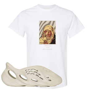 Yeezy Foam Runner Sand T Shirt | God Told Me, White