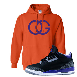 Air Jordan 3 Court Purple Hoodie | OG, Orange