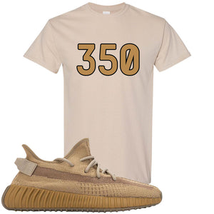 Yeezy Boost 350 V2 Earth Sneaker T-Shirt To Match | 350, Sandstone
