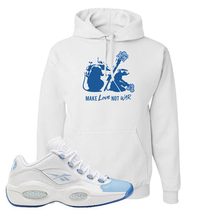 Question Low Carolina Blue Hoodie | Army Rats, White