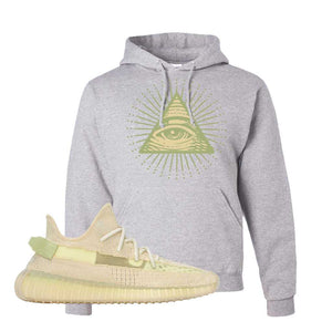Yeezy Boost 350 V2 Flax Hoodie | Ash, All Seeing Eye