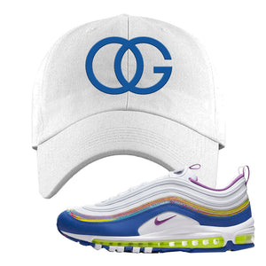 Air Max 97 'Easter' Sneaker White Dad Hat | Hat to match Nike Air Max 97 'Easter' Shoes | OG