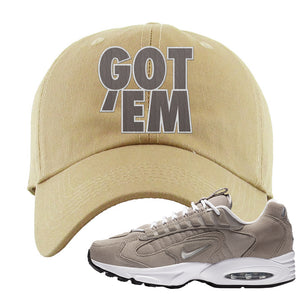 Air Max Triax 96 Grey Suede Dad Hat | Got Em, Khaki