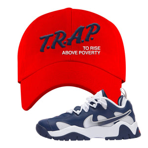 Air Barrage Low USA Dad Hat | Red, Trap To Rise Above Poverty