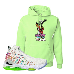 Lebron 17 Air Command Force Hoodie | Don't Hate The Player, Neon Green