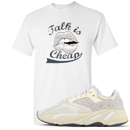 Yeezy Boost 700 Analog Sneaker Match Talk Is Cheap White T-Shirt