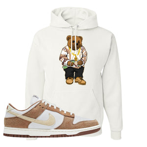 Dunk Low Medium Curry Hoodie | Sweater Bear, White